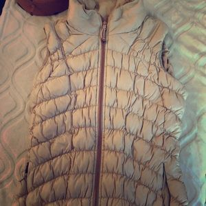 Athleta vest small beige/pink rose gold accent